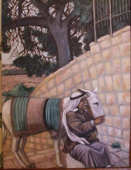 Beggar On the Mount of Olives