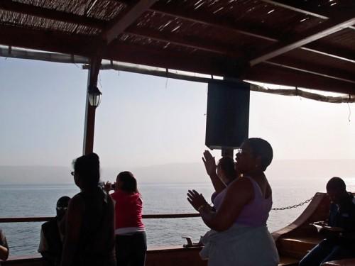 Praise & Worship on Sea of Galilee