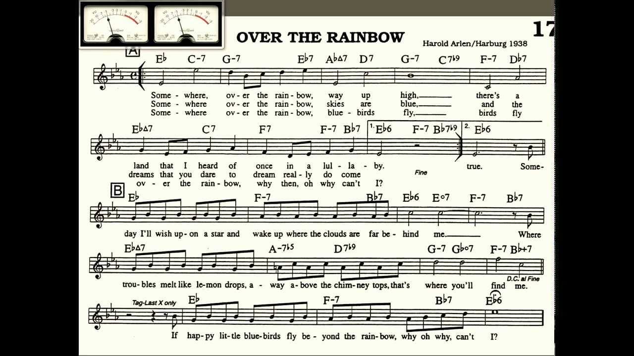 Over The Rainbow Piano Chords Images Piano Chord Chart With Finger